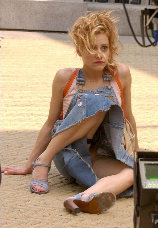 Brittany Murphy upskirt flash from Uptown Girls on Mr Skin